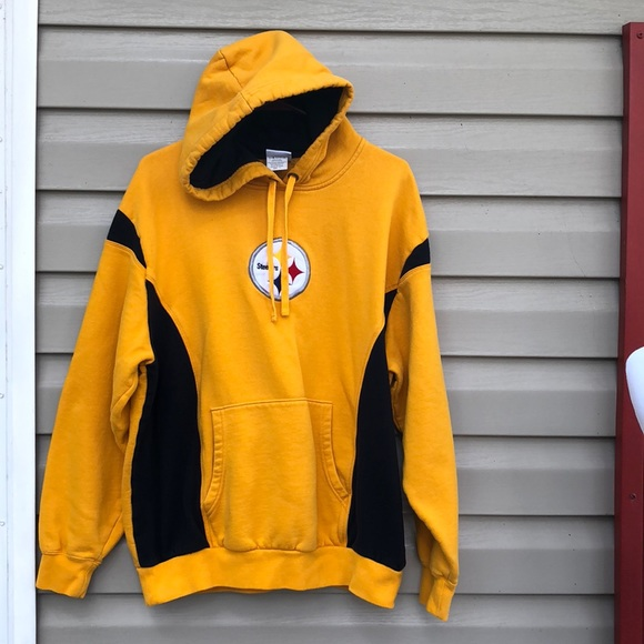 separation shoes f1e40 72680 NFL Pittsburgh Steelers men's gold/black hoodie